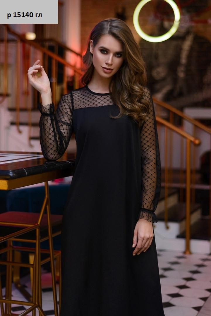Женское платье с сеткой р 15140 гл