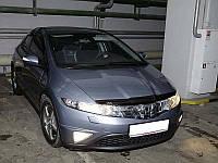 Дефлектор капота (мухобойка) Honda Civic 2006-2012 hatchback 5d, SIM, SHOCIVH0612