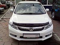 Дефлектор капота (мухобойка) Honda Civic 2012-2016 sedan 4d, SIM, SHOCIVS1212