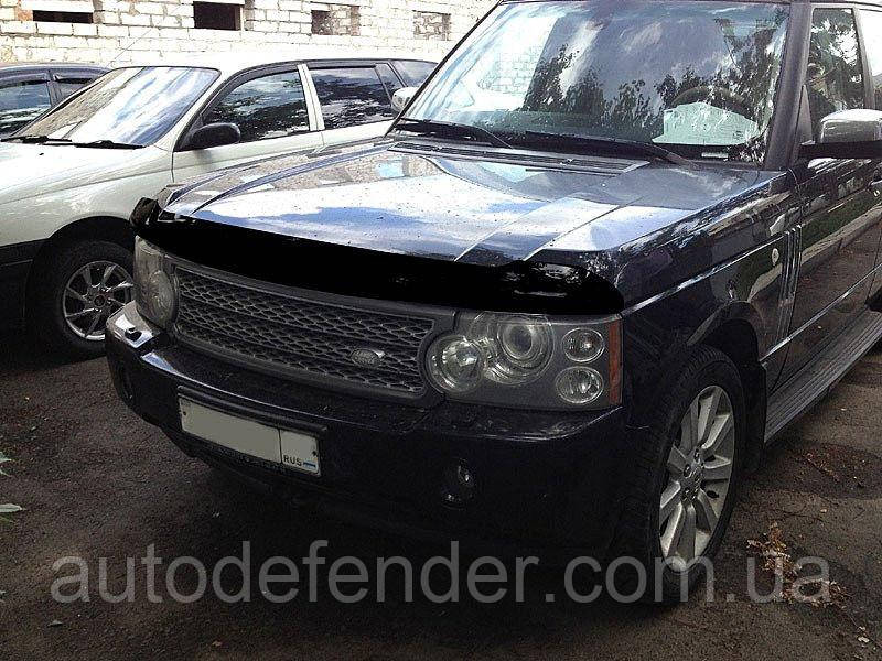 Дефлектор капота (Люкс!) мухобойка Land Rover Range Rover Vogue II 2002-2012, SIM, SLRRRO212