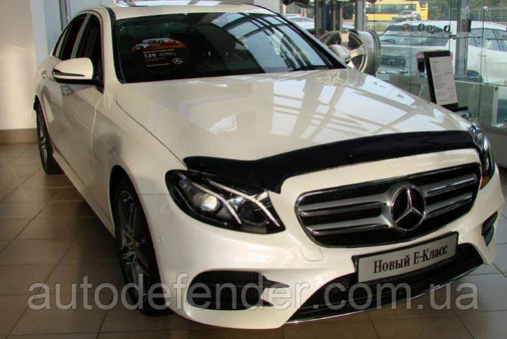 Дефлектор капота (Люкс!) мухобойка Mercedes-Benz W213 E-Class 2016-2019, SIM, SMERE1612