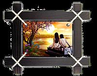 Картина на холсте в деревянной рамке