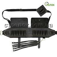 Патронташ Фенікс дворядний закритий (16 калібр, 24+2 клітинки), чорний