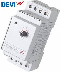 Devireg 330 (-10, +10), Терморегулятор електронний на шину DIN