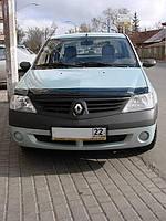 Дефлектор капота (мухобойка) Renault Logan I 2005-2013, SIM, SRELOG0512