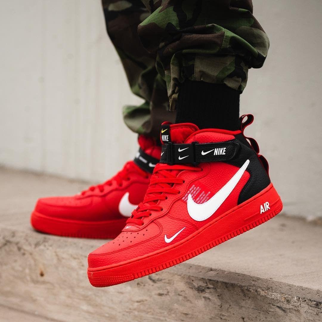 best website e53dc 86a23 Кроссовки Nike Air Force 1 Mid Utility Red