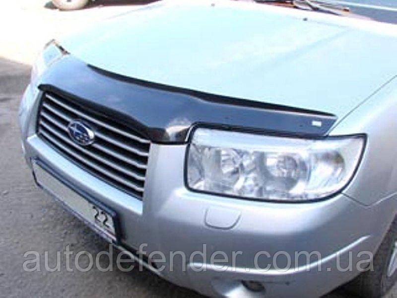 Дефлектор капота (Люкс!) мухобойка Subaru Forester 2005-2008, SIM, SSUFOR0612