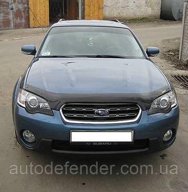 Дефлектор капота (Люкс!) мухобойка Subaru Legacy 2004-2010, SIM, SSULEG0412