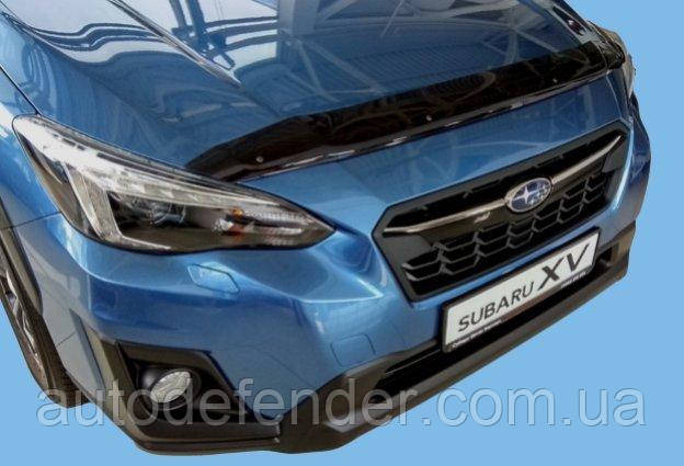 Дефлектор капота (Люкс!) мухобойка Subaru XV 2017-2021, SIM, SSUIMP1712