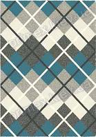 Ковер для дома Opal Cosy structure шотландка цвет синий
