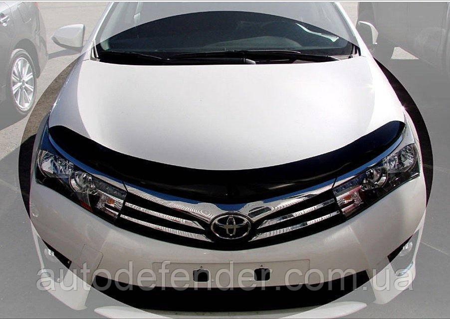 Дефлектор капота (Люкс!) мухобойка Toyota Corolla 2013-2019 euro, SIM, STOCOR1312