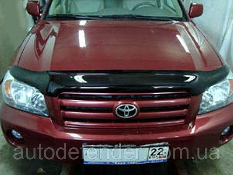 Дефлектор капота (Люкс!) мухобойка Toyota Highlander 2001-2007 Kluger, SIM, STOHIG0112