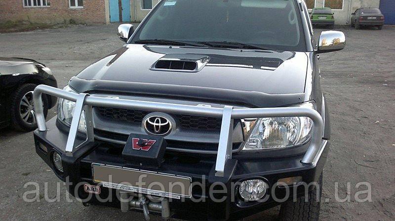 Дефлектор капота (Люкс!) мухобойка Toyota Hilux 2005-2011, SIM, STOHIL0512
