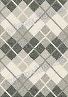 Ковер для дома Opal Cosy structure шотландка цвет светло-серый