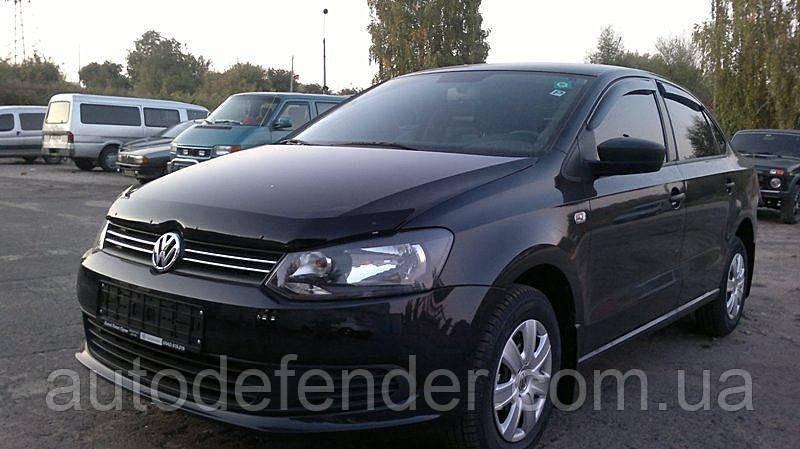 Дефлектор капота (Люкс!) мухобойка Volkswagen VW Polo V 2009-2014, SIM, SVOPOL0912