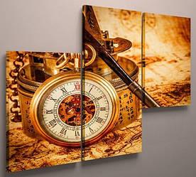 Картина модульная часы 90х60