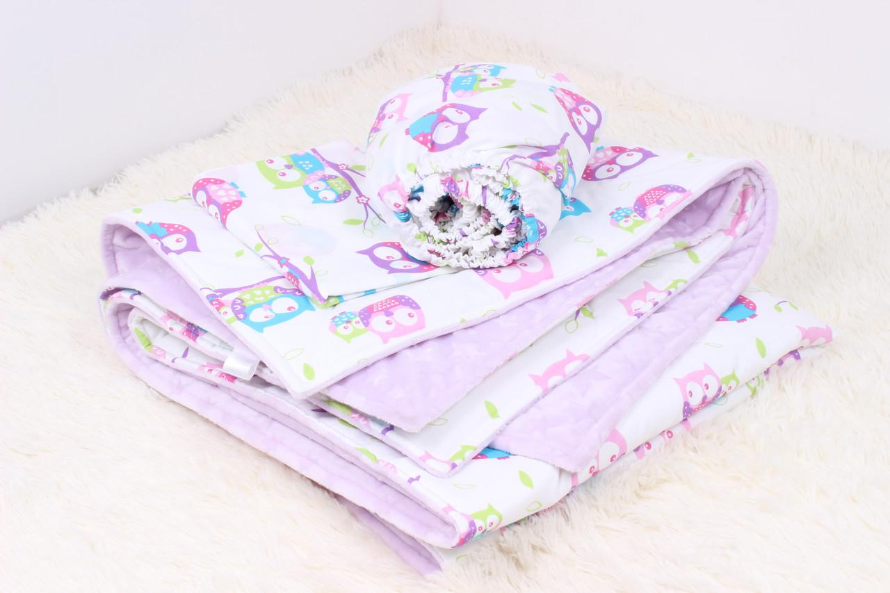 Детское теплое одеяло совушки