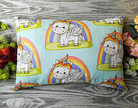 Подушка единорог и радуга , 43 см * 29 см