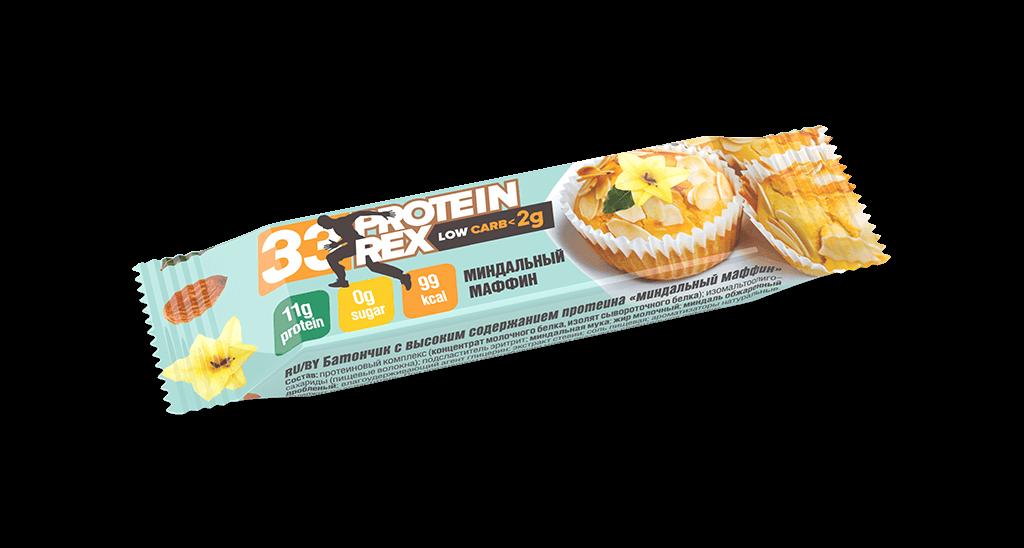 Батончик протеиновый ProteinRex «Миндальный маффин», 35г