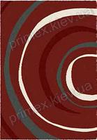 Ковер для дома Opal Cosy structure водоворот цвет красный