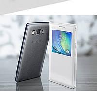 """Samsung A7 A700 GALAXY Оригинальный чехол смарт книжка для телефона """" S View Cover Smart A7 """" (EF-CA500BCEGRU)"""