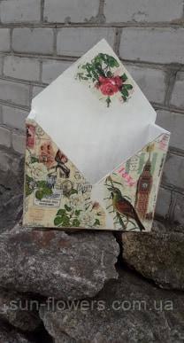 Ящик-конверт деревянный(декупаж)