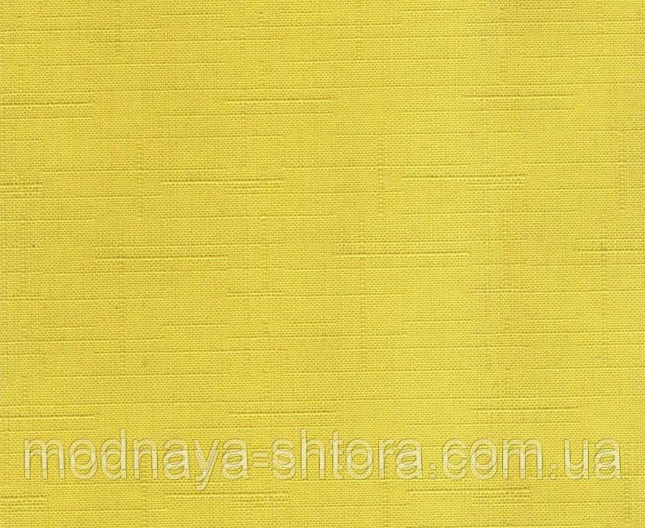 """Тканевые рулонные шторы """"Oasis"""" лен (желтый), РАЗМЕР 75х170 см"""