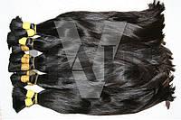 Натуральный волос для наращивания в срезах, темный, прямой
