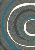 Ковер Shaggy с высоким ворсом, Бельгия. Opal Cosy structure водоворот серый с синим