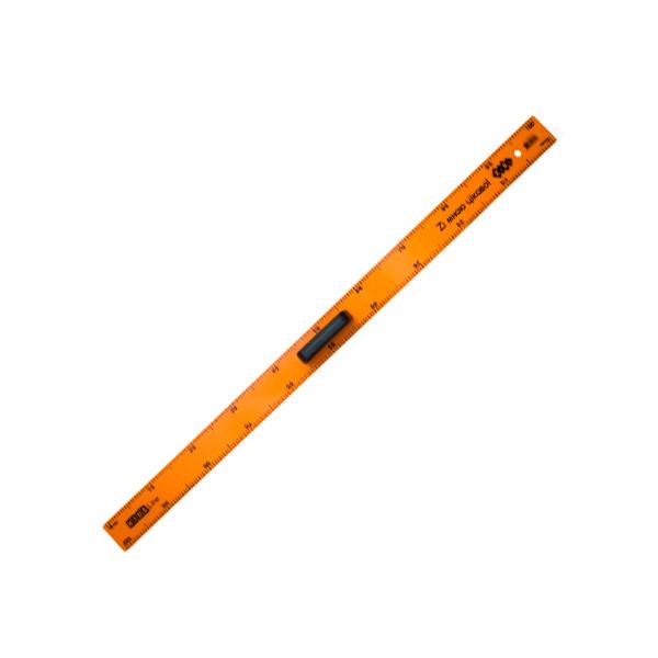 """Линейка пл. 1м """"ZiBi"""" ZB5619 с ручкой оранж."""