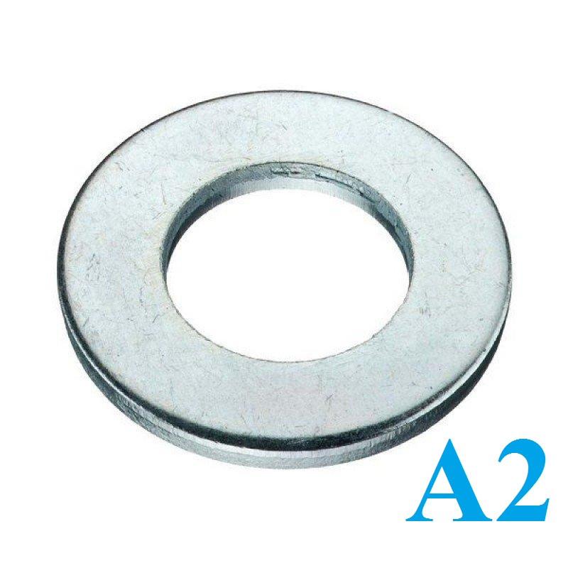 Шайба плоская DIN 125 М27 нержавеющая сталь A2 (50 шт/уп)