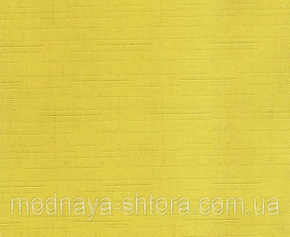 """Тканевые рулонные шторы """"Oasis"""" лен (желтый), РАЗМЕР 150х170 см"""