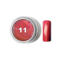 "Цветной гель № 11 METALLIC COLLECTION Strawberry 5 мл ""Gelliant"""