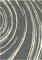Ковер для дома Opal Cosy structure водоворот цвет серый с белым