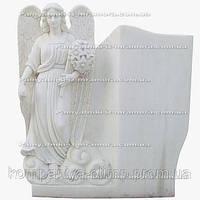 Скорбящий ангел с цветами из мрамора №23