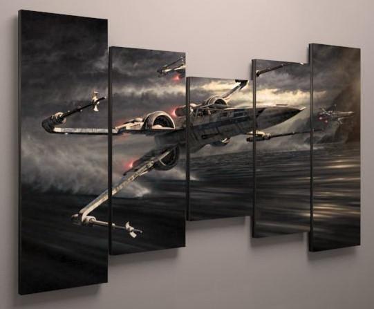 Фото картина модульная звездные войны 125х70