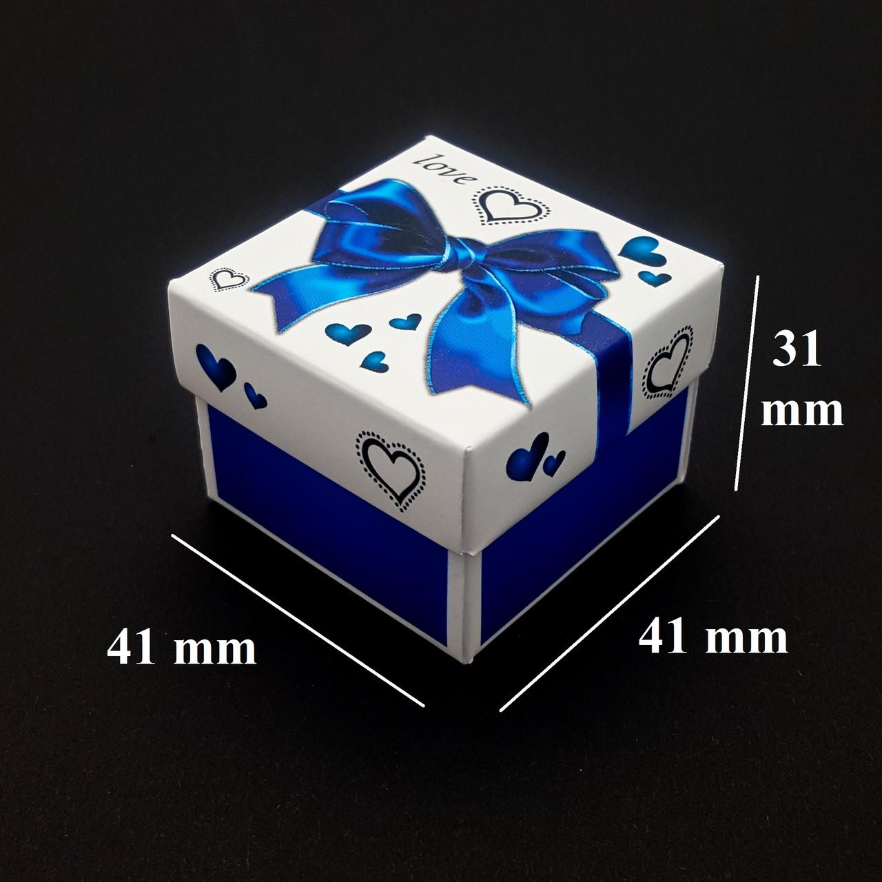 Подарочная коробочка для бижутерии, с вкладышем, голубая