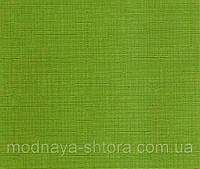 "Тканевые рулонные шторы ""Oasis"" лен (зеленый), РАЗМЕР 45х170 см, фото 1"