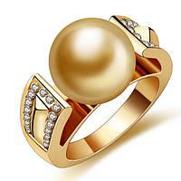 Великолепная 18к позолота перстня синтетических алмазов унисекс