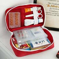 Аптечка органайзер для дома и в путешествия большая Red