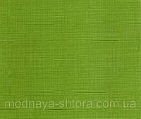 "Тканевые рулонные шторы ""Oasis"" лен (зеленый), РАЗМЕР 55х170 см, фото 1"
