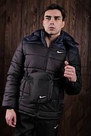 """Курточка мужская Jacket Spring/Autumn """"Euro"""" весенняя/осенняя утепленная, цвет сине-черный, фото 1"""