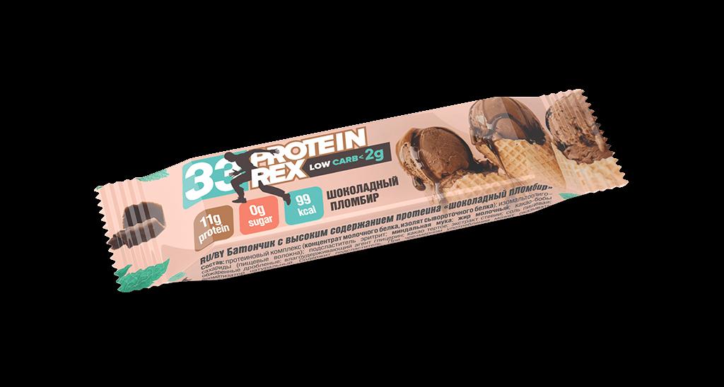 Батончик протеиновый ProteinRex «Шоколадный пломбир», 35г