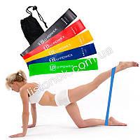 Резинки для фитнеса U-Poweх с фирменной книжечкой на русском 5 шт. в мешочке