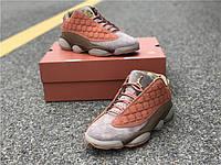 Кроссовки Nike Air Jordan 13  Low x CLOT  реплика, фото 1