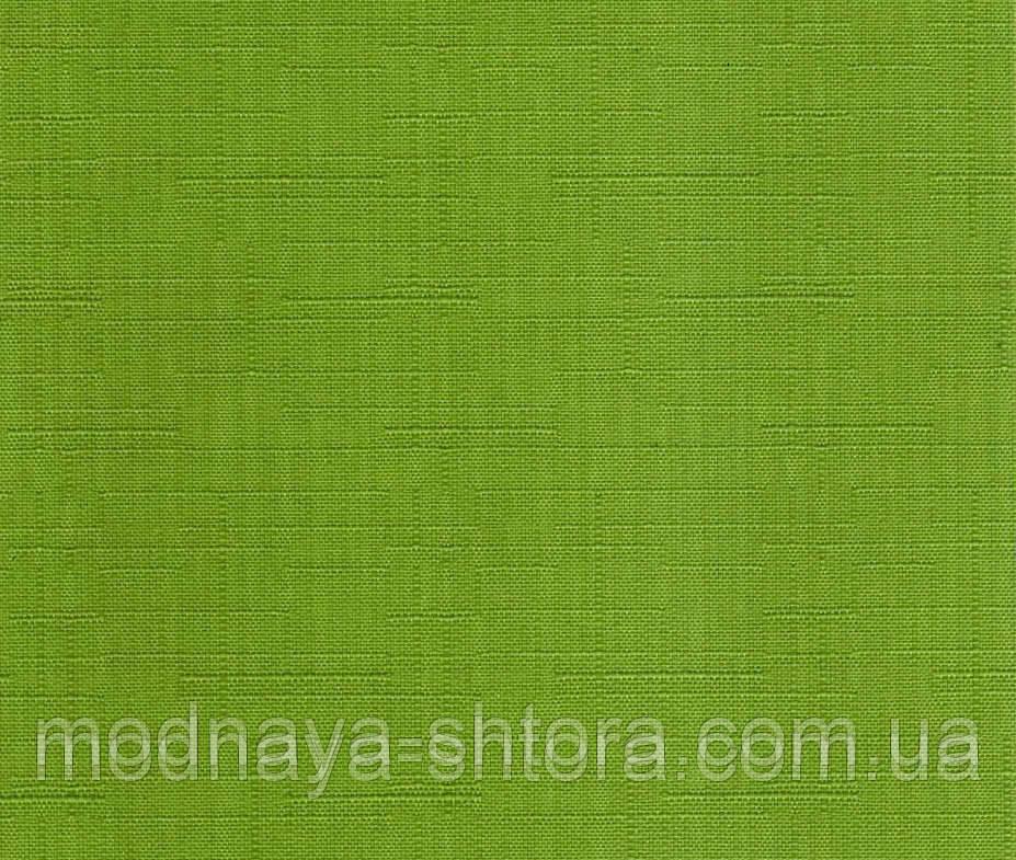 """Тканевые рулонные шторы """"Oasis"""" лен (зеленый), РАЗМЕР 82,5х170 см"""