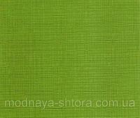 "Тканевые рулонные шторы ""Oasis"" лен (зеленый), РАЗМЕР 82,5х170 см, фото 1"