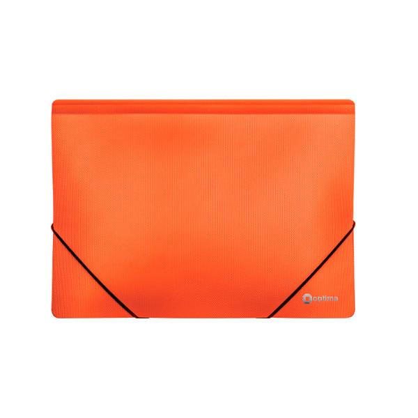 """Папка пл. А4 """"Optima"""" O30698-06 на рез. оранж."""