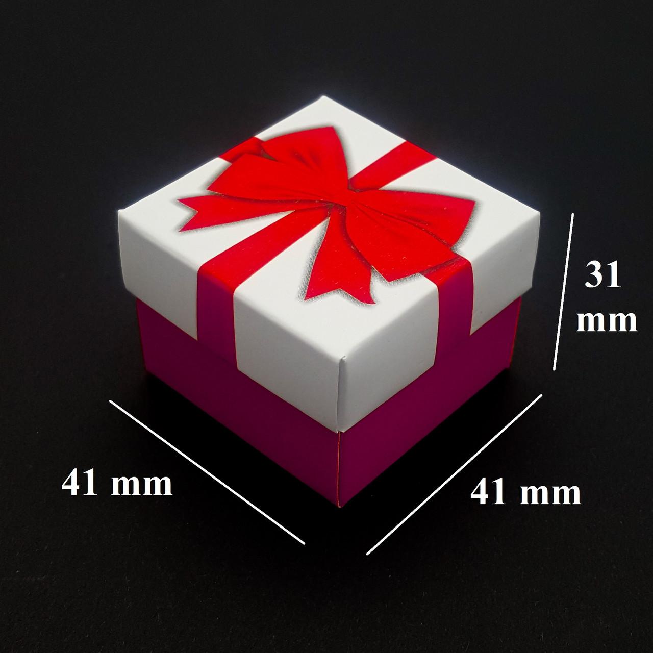 Коробочка подарочная для сережек и колец, красная