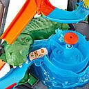Авто трек Хот Вилс Автомойка, Ultimate Gator Car Wash Playset Hot Wheels, фото 8